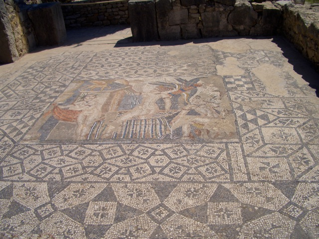 A mosaic floor in Volubilis