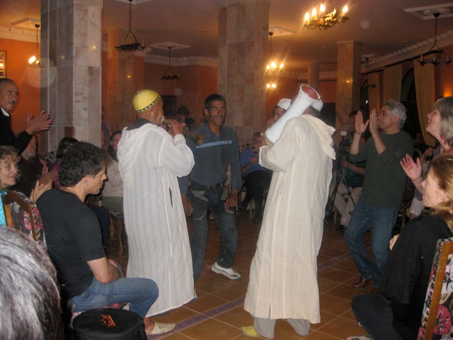 The Sufi musicians at the first tour dinner