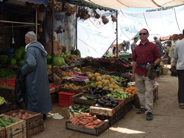 The market at Moulay Idriss