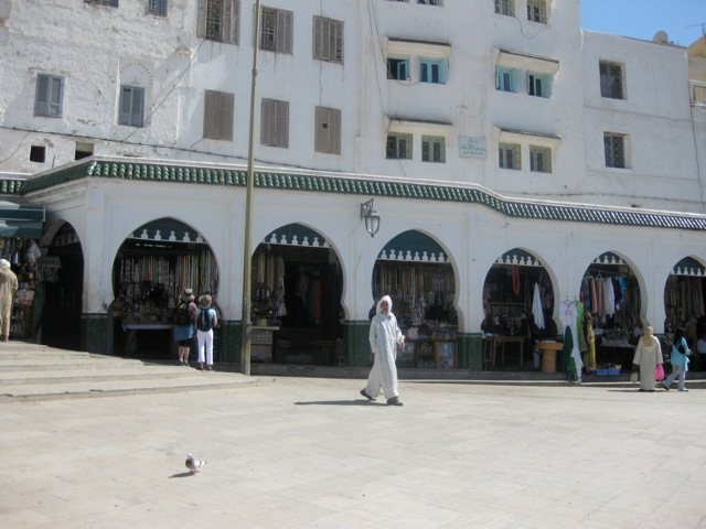 The city square in Moulay Idriss