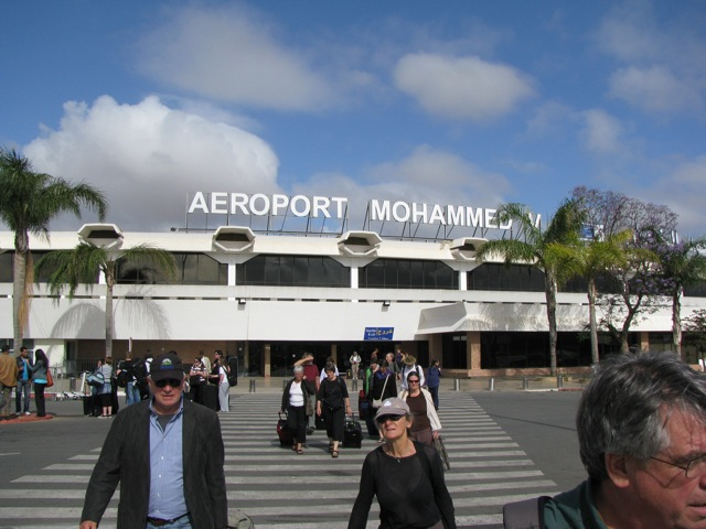 Some tour members arriving from the Casablanca Airport