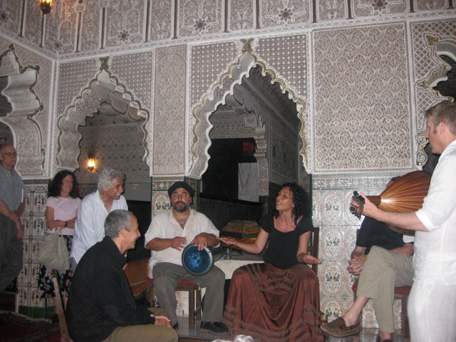 Smadar singing a song for Jawad