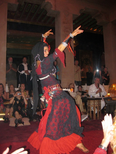 Maya dancing with the Yuval Ron Ensemble in Marrakesh