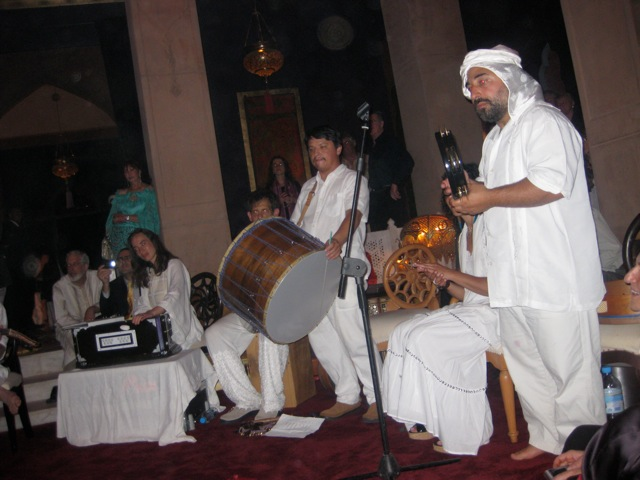 Dror and the Yuval Ron Ensemble performing in Marrakesh