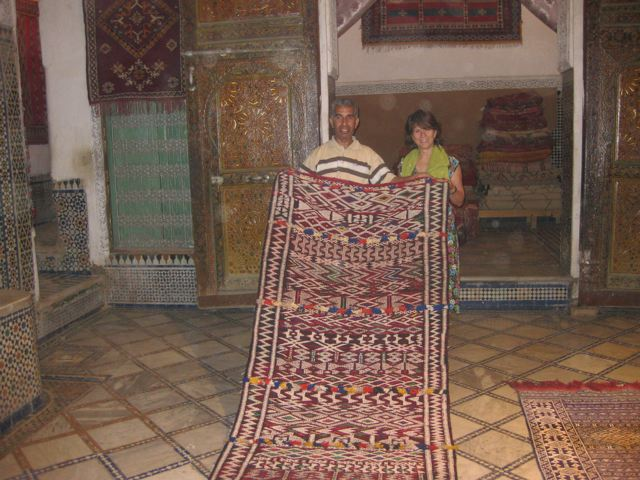 Buying rugs in Fes
