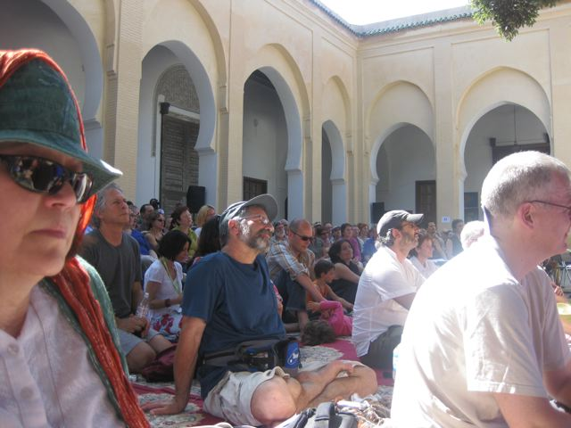 Ilan watching the Yuval Ron Ensemble in Fes