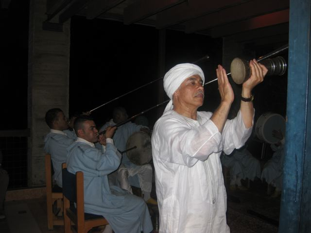 Hamid drumming with the Sufis