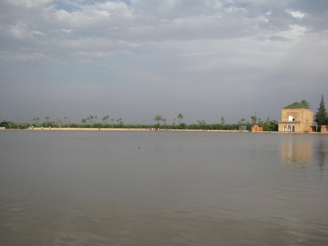 The reservoir in the olive grove in Marrakesh
