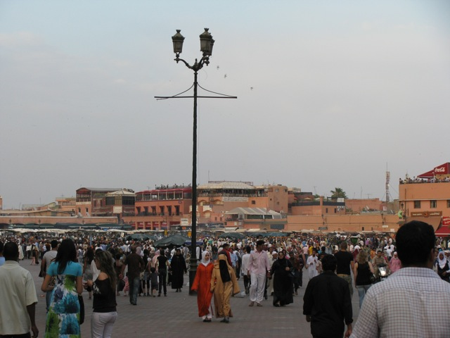 "The sea of humanity in ""Jemaa el Fna"""