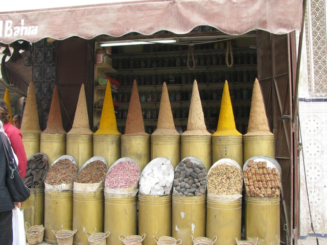 A spice dealer in Marrakesh