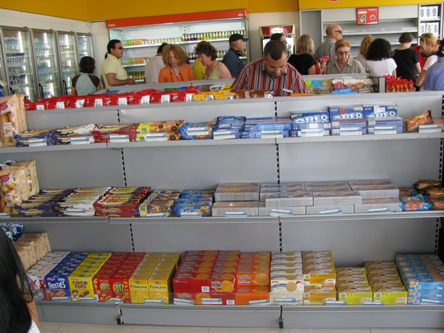 American junk food in a Morocco gas station