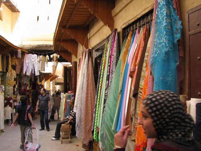 Shopping in the medina in Fes