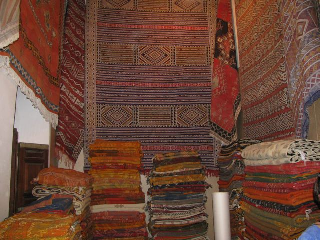 Moroccan rugs in Fes