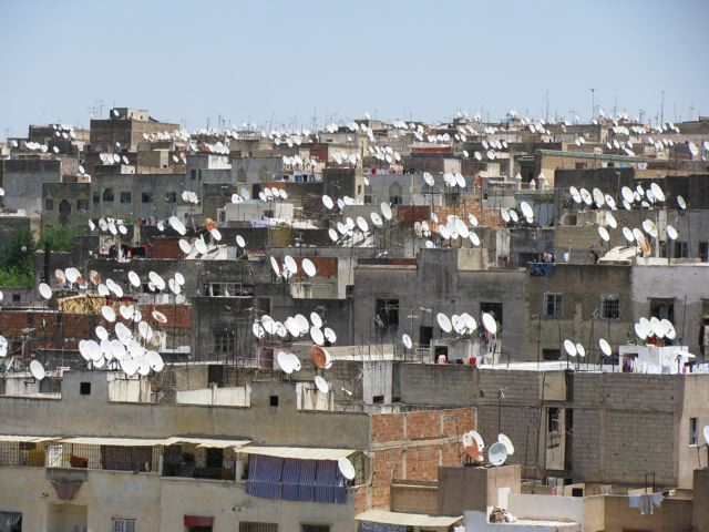 View of Fes from the roof of the rug dealer we visited