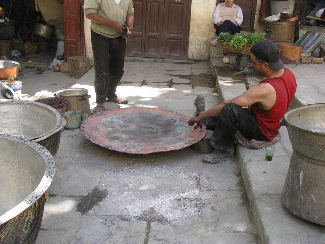 A metal worker in Fes