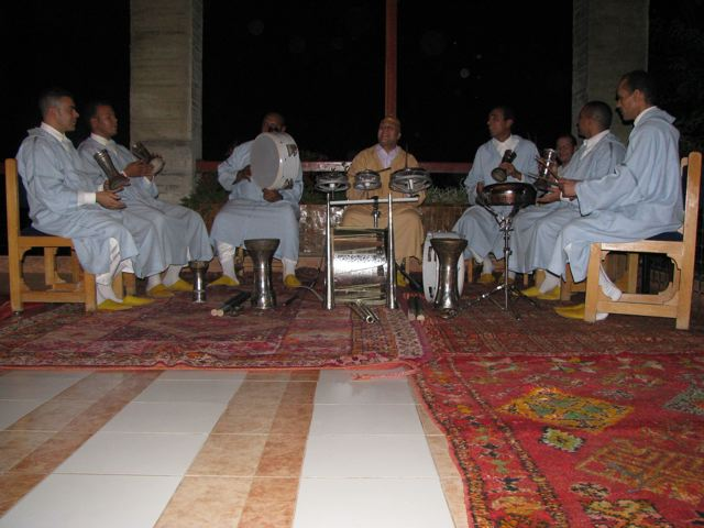 The Sufi drummers at our hotel in Fes