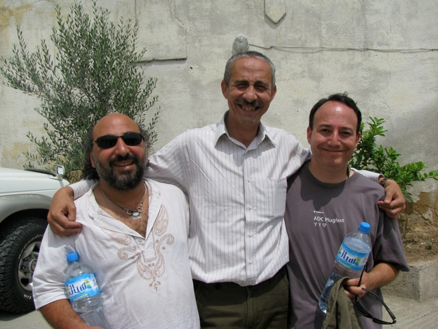 Dror and Andy with our great guide, Jowad