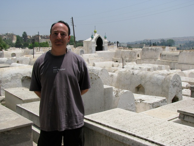 Andy at the Jewish cemetery in Fes