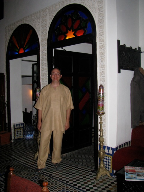 Andy in his Moroccan garb at the final tour party