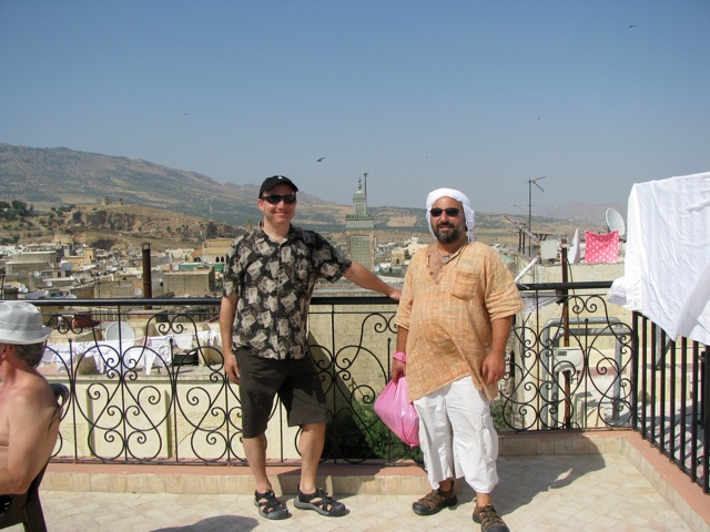 Dror and Andy, on the last day of the tour