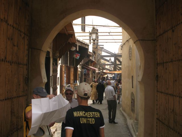 Another view of the streets of the medina in Fes