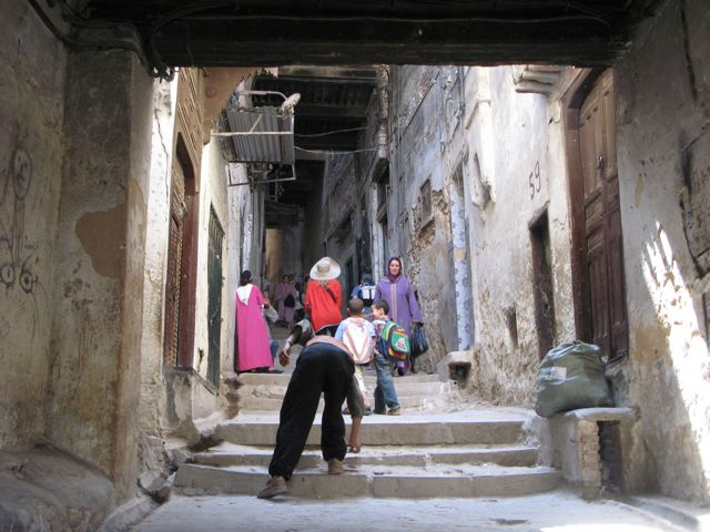 Walking the streets of the medina in Fes
