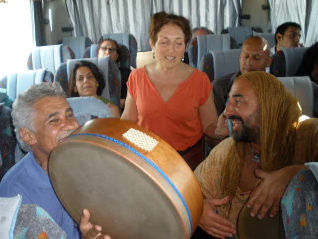 More drumming and singing on the bus on the way to Fes